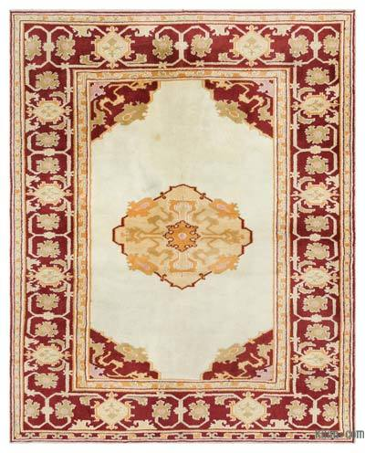 "Turkish Vintage Area Rug - 5'9"" x 7'1"" (69 in. x 85 in.)"