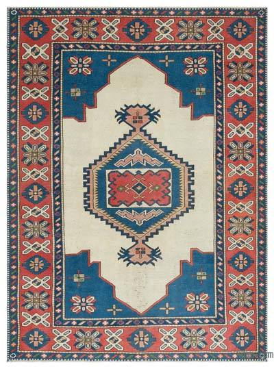 "Turkish Vintage Area Rug - 6' x 7'11"" (72 in. x 95 in.)"