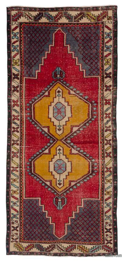 "Turkish Vintage Area Rug - 3'9"" x 8'5"" (45 in. x 101 in.)"