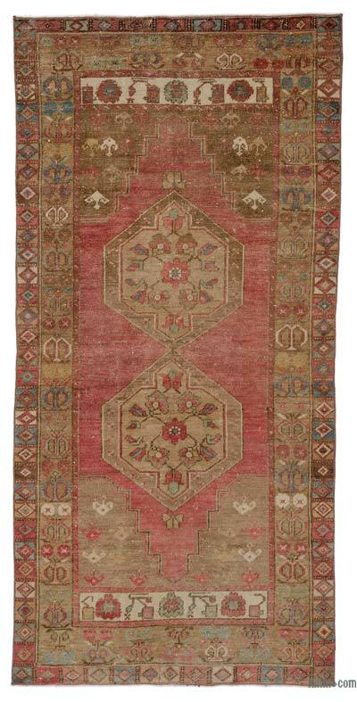 "Turkish Vintage Area Rug - 3'8"" x 7'10"" (44 in. x 94 in.)"