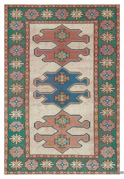 "Turkish Vintage Area Rug - 4'4"" x 6'4"" (52 in. x 76 in.)"