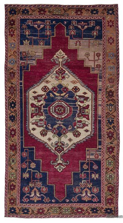 "Turkish Vintage Area Rug - 5' x 9'3"" (60 in. x 111 in.)"