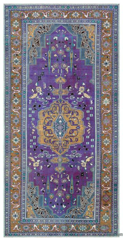 "Turkish Vintage Area Rug - 5'1"" x 9'11"" (61 in. x 119 in.)"