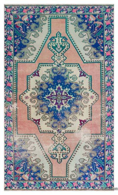 "Turkish Vintage Area Rug - 4'5"" x 7'3"" (53 in. x 87 in.)"