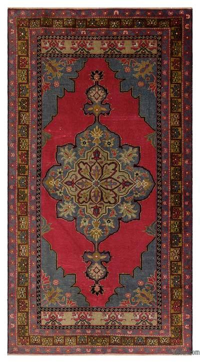 "Turkish Vintage Area Rug - 3'10"" x 7' (46 in. x 84 in.)"