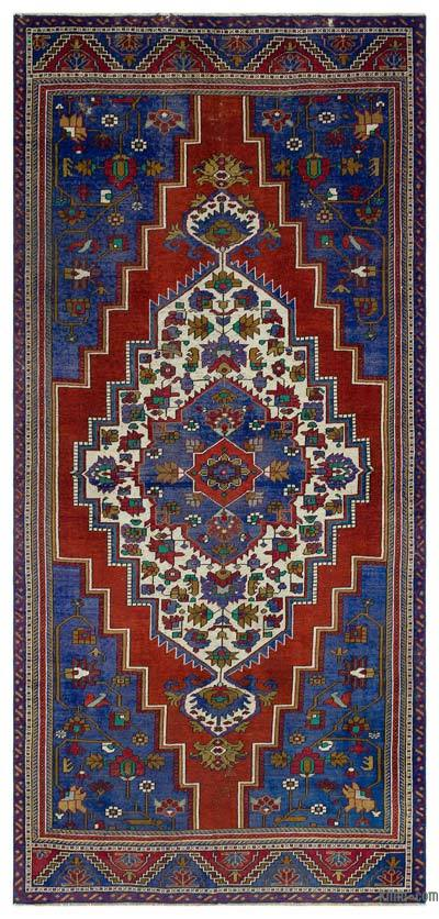 "Turkish Vintage Area Rug - 4'11"" x 10'6"" (59 in. x 126 in.)"