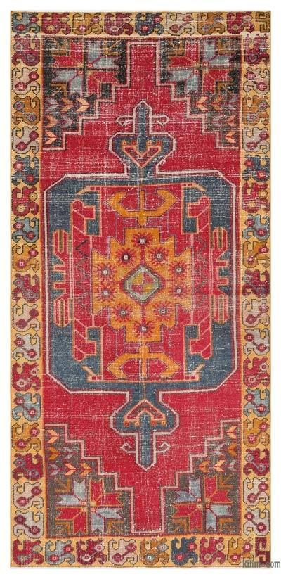 "Turkish Vintage Area Rug - 3'11"" x 8'6"" (47 in. x 102 in.)"