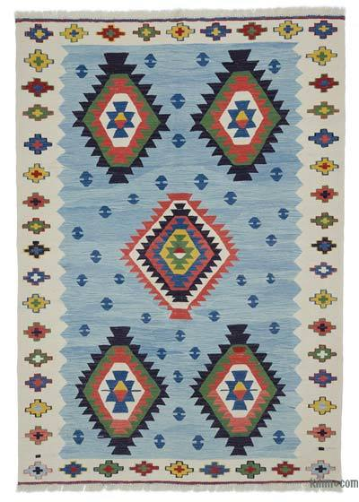 "New Handwoven Turkish Kilim Rug - 5'7"" x 8' (67 in. x 96 in.)"