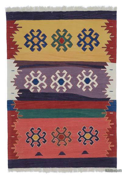 "New Handwoven Turkish Kilim Rug - 4'1"" x 5'10"" (49 in. x 70 in.)"