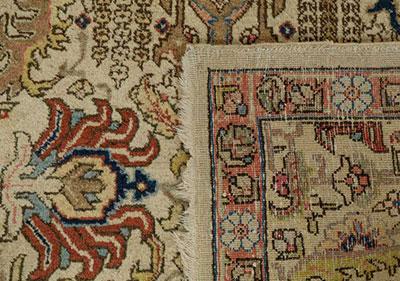 Persian pile rug detail