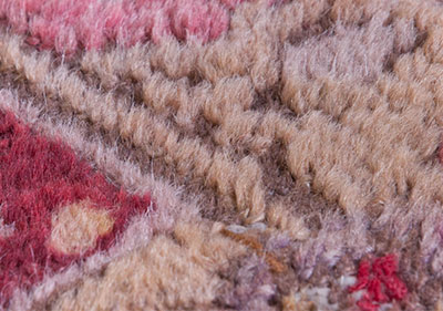 Pile rug detail