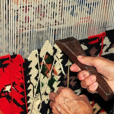 hand loom weaving