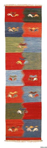New Turkish kilim runner rug