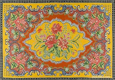 floral moldovian kilim
