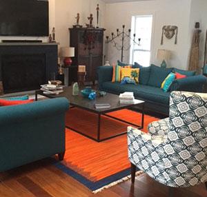 New Turkish Kilim Rug in Living Room