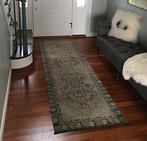 R.M. Traverse City, MI, USA - Turkish Vintage Runner Rug
