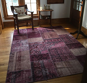 Over-dyed Patchwork Rug