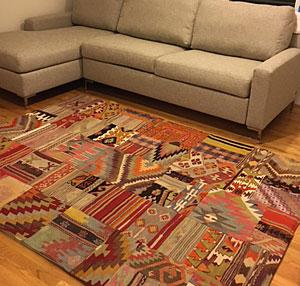 Kilim patchwork rug