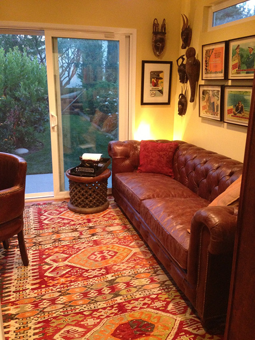 Kilim rug in living room