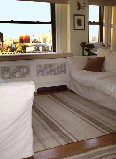 Kilim rug in living room