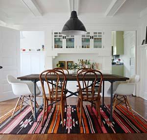 Kilim rug in livingroom