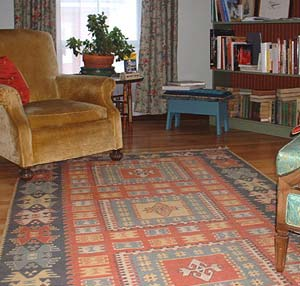 Kilim rug in sitting room