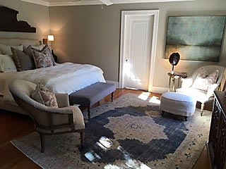 Pile rug in bedroom