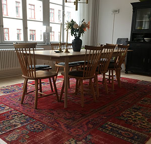 Turkish Patchwork Rug Under Table
