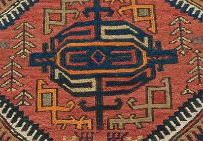 soumak rug detail