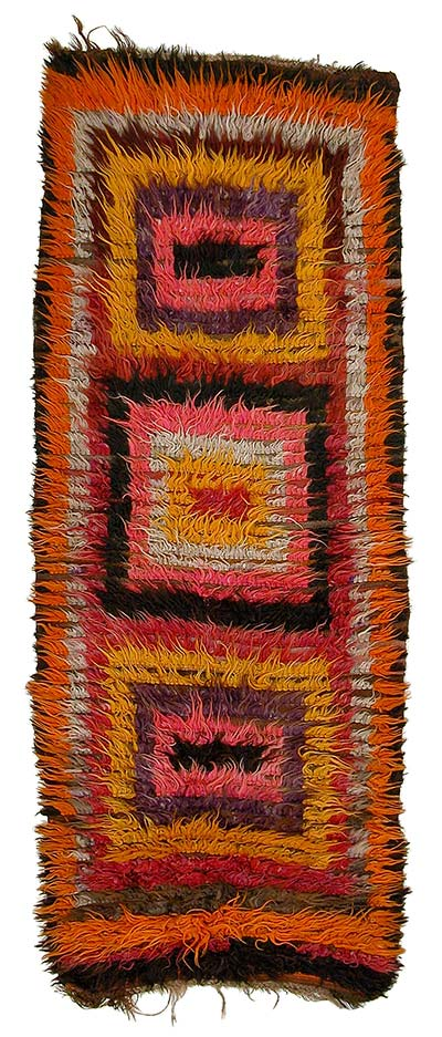 Vintage turkish tulu rug