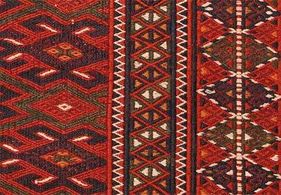 turkmen jijim rug detail