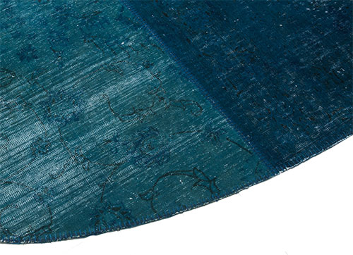 custom oval patchwork rug