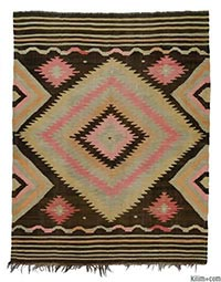 Antique Eskisehir kilim rug