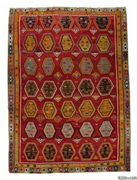 Antique Sarkisla kilim rug