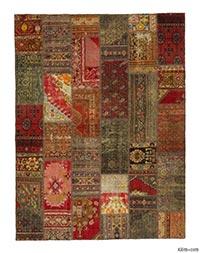 Patchwork vintage rug
