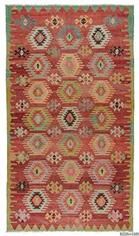 Vintage cal kilim rug