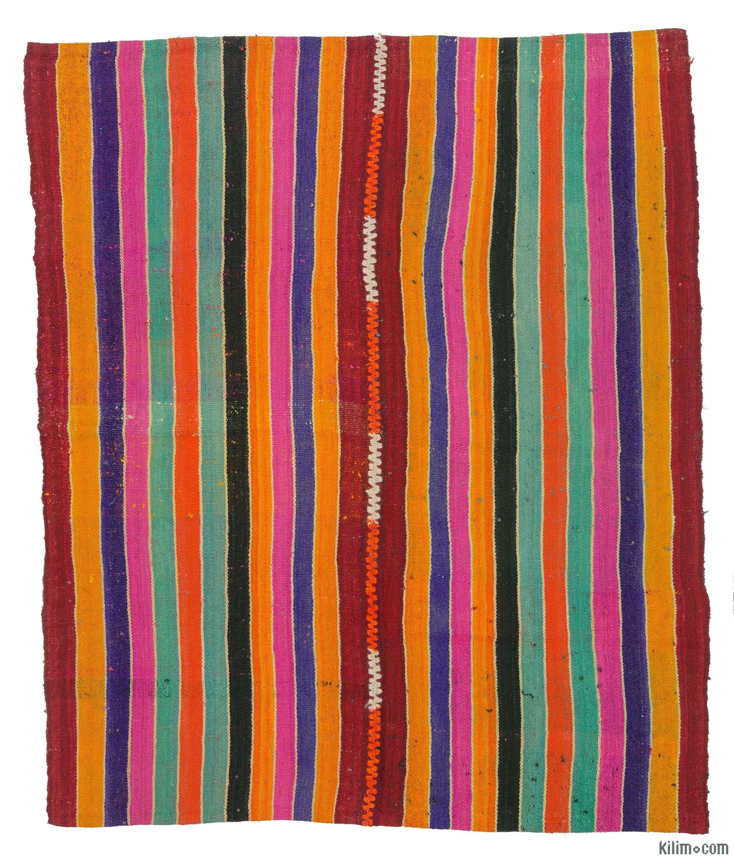 Vintage Persian flatweave kilim rug