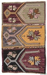 Vintage Artvin kilim rug
