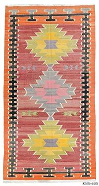 Vintage Milas kilim rug