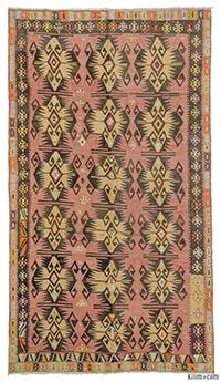 Vintage Kayseri kilim rug