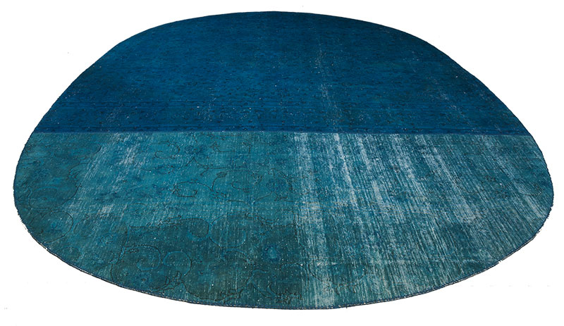 custom oval patchwork rug