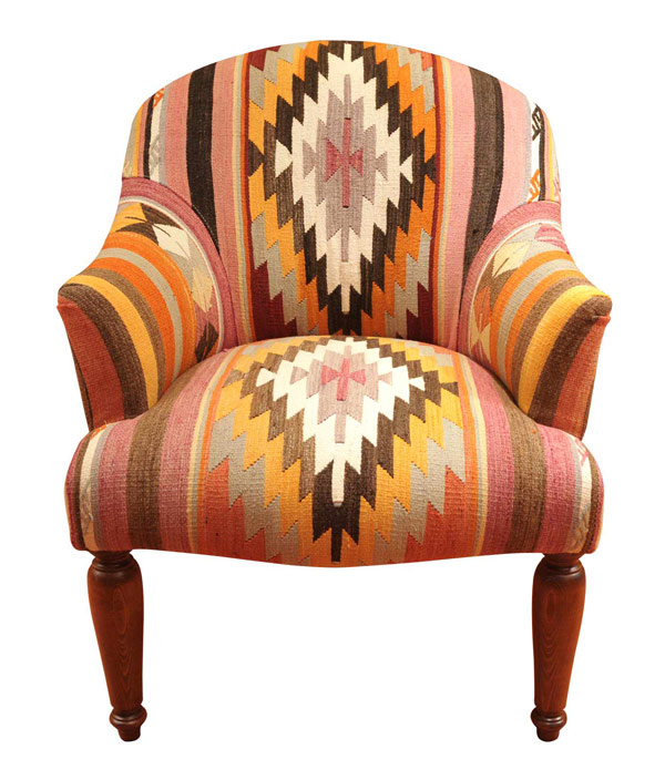 Kilim covered chair