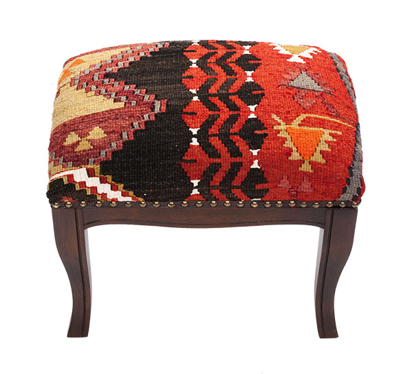 Kilim covered stool