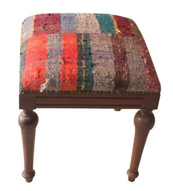 Kilim covered stool