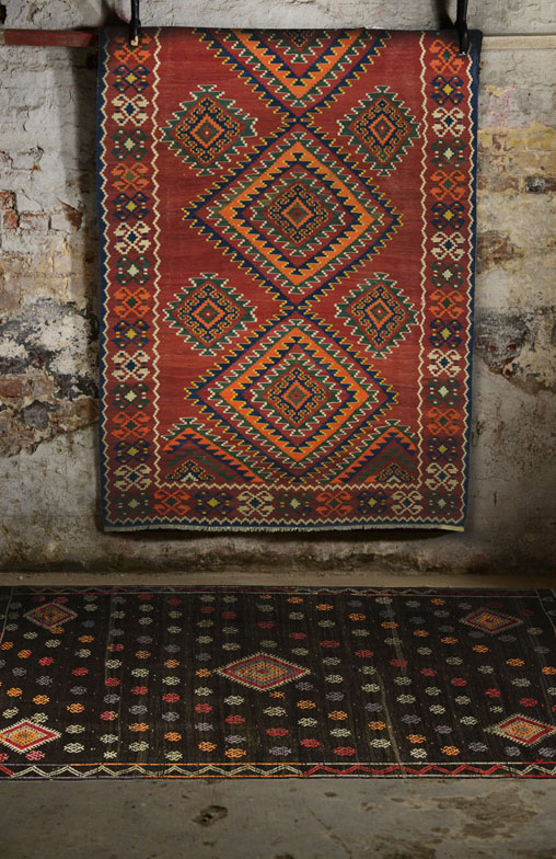 Kilim Rugs Overdyed Vintage Hand Made Turkish Patchwork Carpets By Com