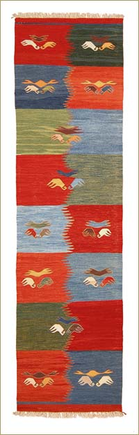 New Turkish Kilim Runner Rug