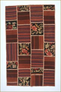 New Anatolian Patchwork Kilim Area Rug