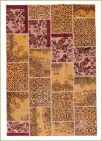 Over-dyed Anatolian Patchwork Rug