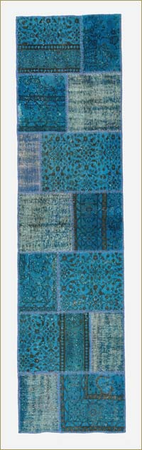 Over-dyed Anatolian Patchwork Runner Rug