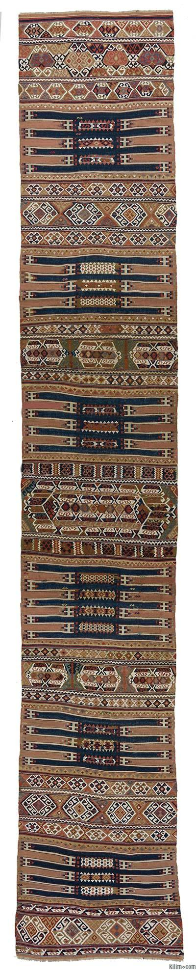 Antique Malatya Kilim Runner Rug